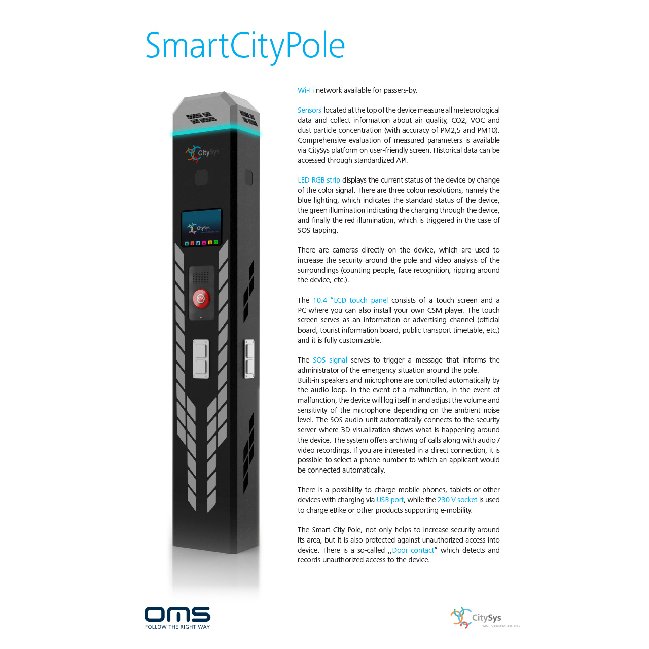 SmartCityPole | OMS IoT Systems